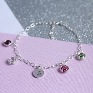 Family Birthstone Charm Bracelet - gifts for mothers