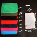 Pencil case colours