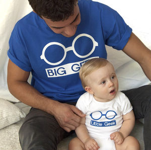 'Big Geek Little Geek' Father And Son Set - babygrows