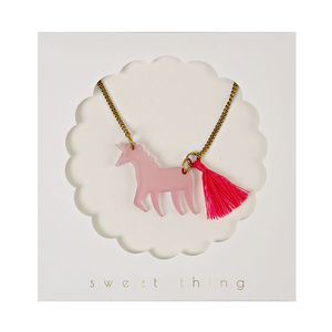 Acrylic Unicorn Pendant Necklace