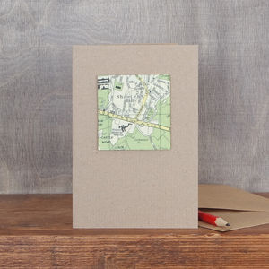 Personalised Map Square Card