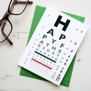 Father's Day Funny Eye Chart Card - view all sale items