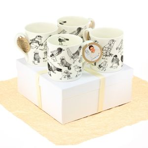 Birds Mugs Gift Set