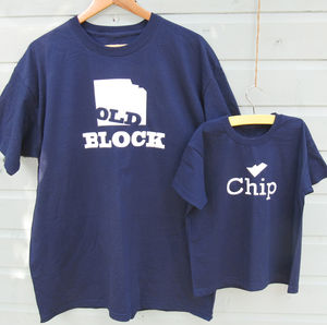 'Chip' Off The 'Old Block' T Shirts - children's dad & me sets