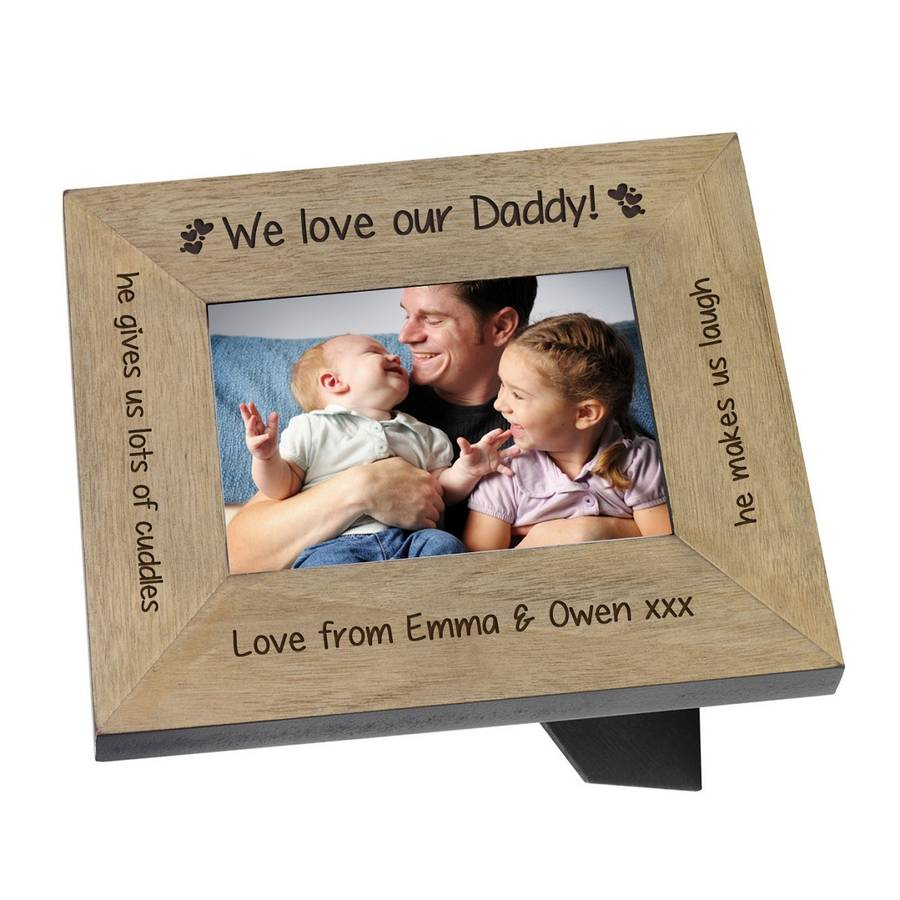 We Love Or I Love Daddy In Silver Plate Or Wood By Babyfish