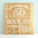Personalised 50th Birthday Wooden Print