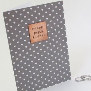 Personalised 'Mr And Mrs' Wedding Day Card