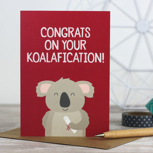 'Koalafication' Koala Graduation / Exam Card - congratulations cards