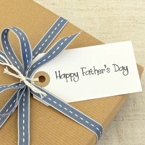 'Happy Father's Day' Gift Tag ~ Medium - view all father's day gifts
