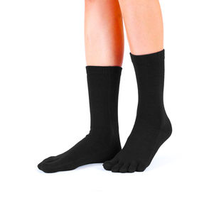Plain Mid Calf Toe Socks - women's fashion
