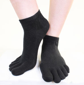 Plain Anklet Toe Socks - women's fashion