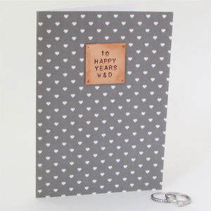 Personalised Couples Anniversary Card - wedding, engagement & anniversary cards