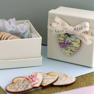 Personalised Map Wedding Table Decorations - wedding favours