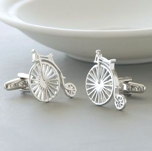Personalised Penny Farthing Cufflinks