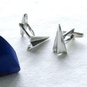 Paper Plane Cufflinks - men's jewellery
