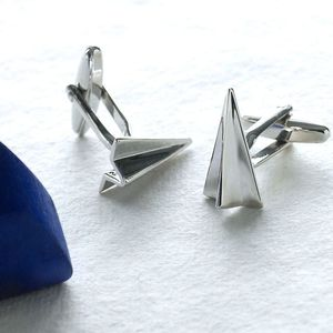 Personalised Paper Plane Cufflinks - stocking fillers sale