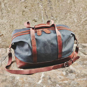 Canvas And Leather Holdall - frequent travellers