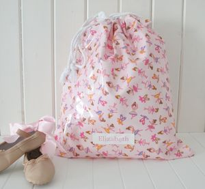 Personalised Drawstring Ballet Bag - more