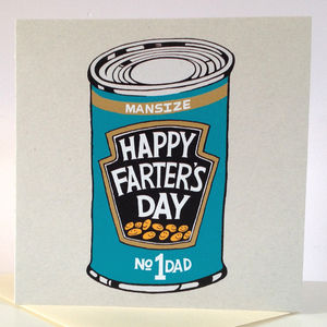 'Happy Farter's Day' Card - funny cards