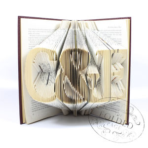 Personalised Initials Folded Book Decoration