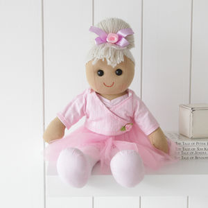 Personalised Ballerina Ragdoll - soft toys & dolls