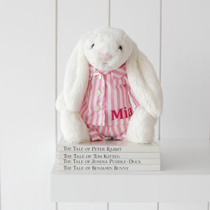 Personalised Bella Bunny Night Time Soft Toy - last minute easter gifts