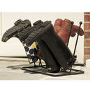 Five Pair Welly Boot Storage Rack Made In Britain