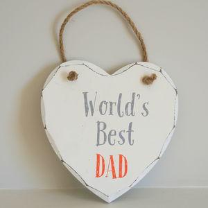 World's Best Dad Wooden Sign