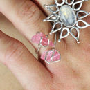 Rough Rose Quartz Sterling Silver Wrap Ring