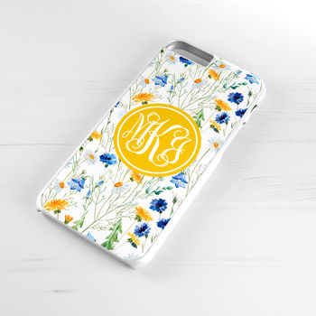 Personalised Daisy And Cornflower Phone Case