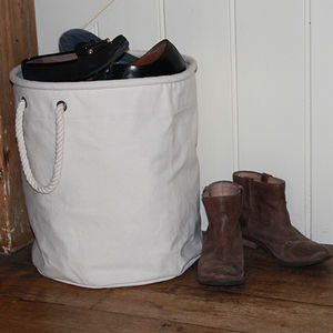 Canvas Shoe Storage Bucket - baskets