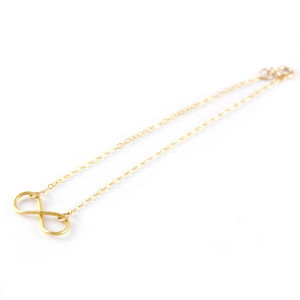 Gold Infinity Loop Bracelet - wedding jewellery