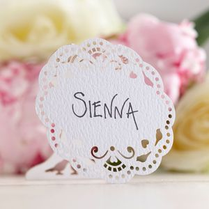 Wedding Lace Place Cards - occasional supplies