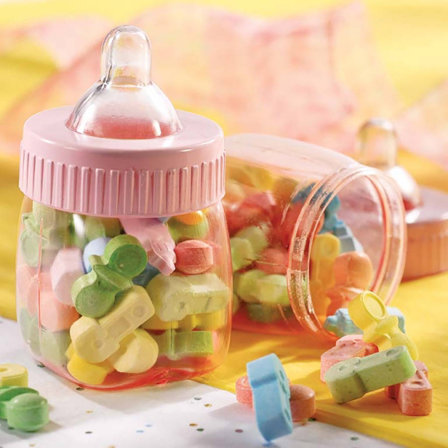 baby shower favour bottles by postbox party