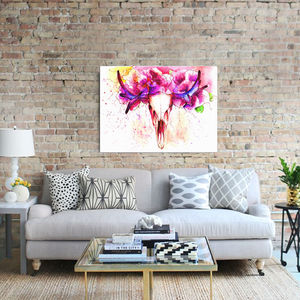 Flowering Stag, Canvas Art - animals & wildlife
