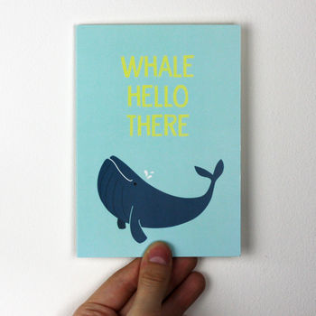 Funny Whale Hello There Birthday Card By Wink Design