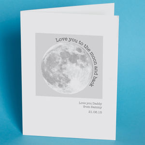 Personalised Moon Card For Dad