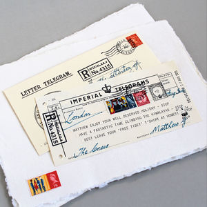 Personalised Message Telegram - wedding cards & wrap