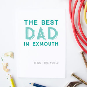 Best Dad In… Personalised Card - last-minute cards & wrap