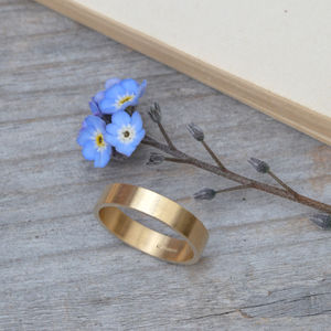 Personalised Wedding Band In 9ct Yellow Gold 4mm Wide - men's jewellery