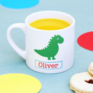 Personalised Dinosaur Children's Mug - mugs