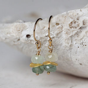 Gold Emerald Earrings