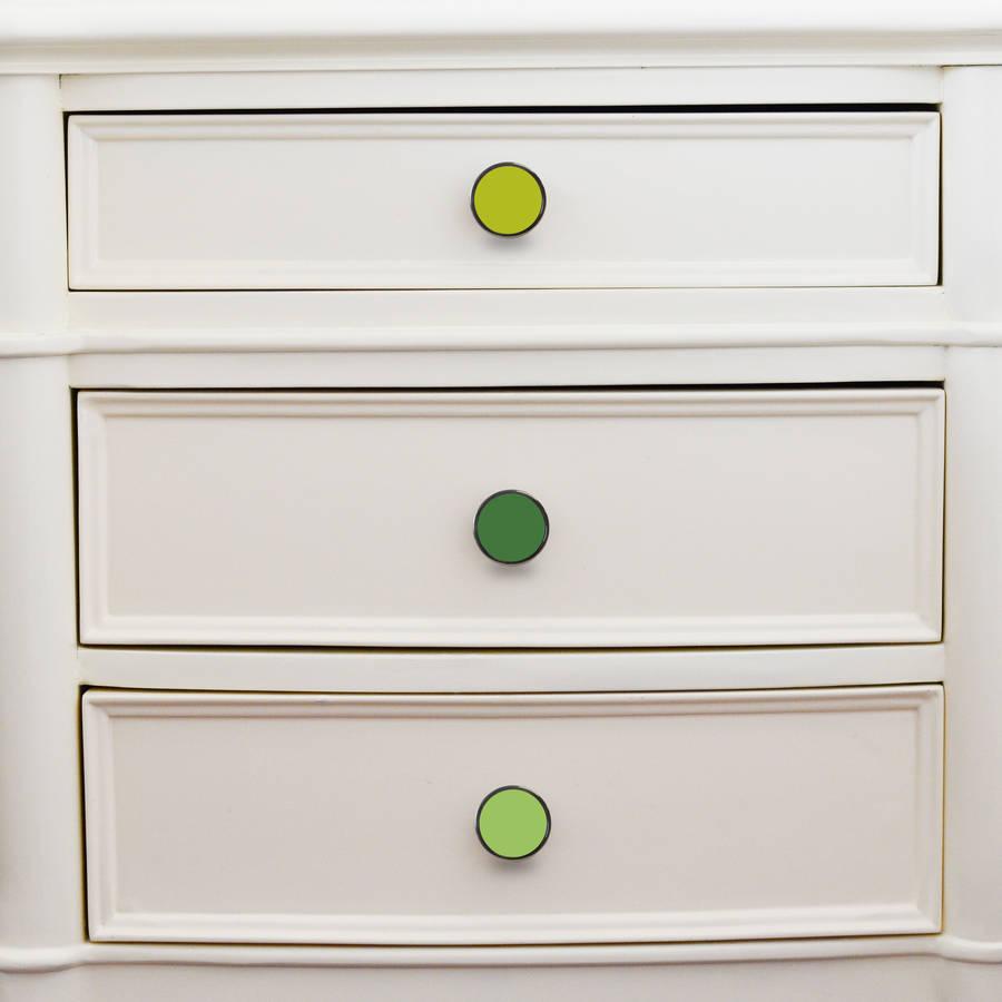 green cupboard door knobs drawer handles by pushka home ...