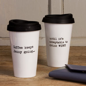Personalised 'Until It's Acceptable' Travel Mug - token gifts