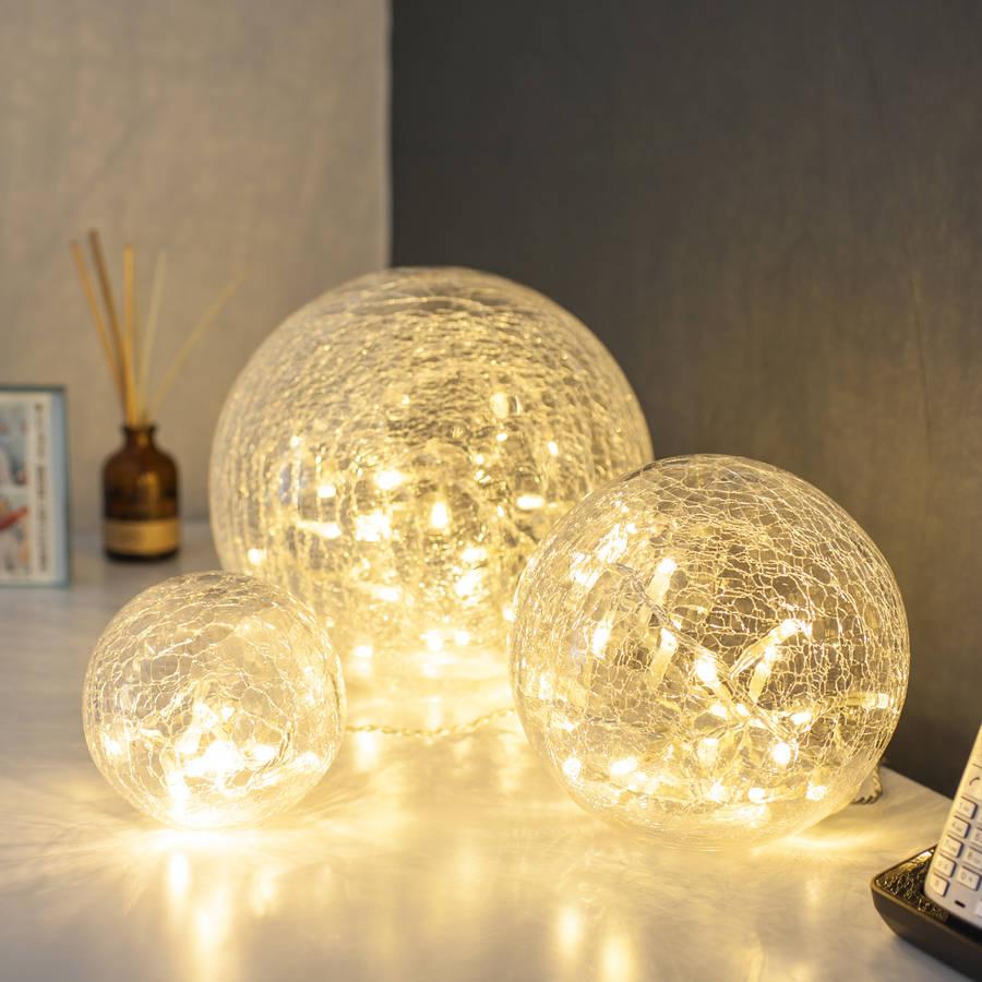 set of three fairy light orbs by lights4fun | notonthehighstreet.com