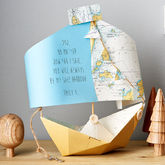 Bespoke Personalised Nautical Chart Paper Boat Card - cards