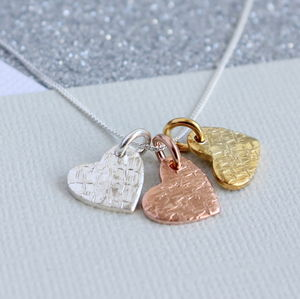 Personalised Textured Heart Pendant - women's jewellery
