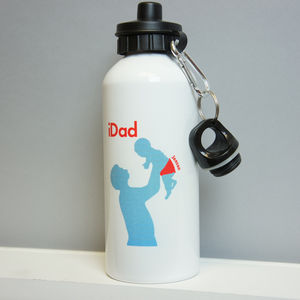 Personalised I Dad Water Bottle