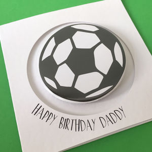 Football Badge Or Bottle Opener Card - blank cards