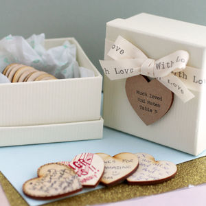 Personalised Message Wedding Table Decorations - wedding favours